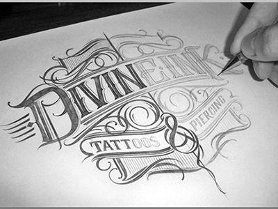 Divineink Logo Sketch by Mateusz Witczak | vintage: typography&brandi ...