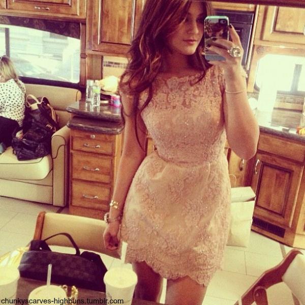 Kylie jenner love her lace dress formal dresses pinterest