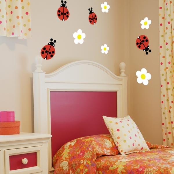 Ladybug Wall Decals - Set of 4