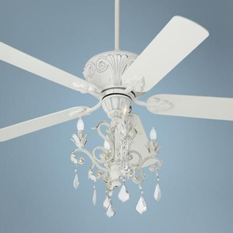 casa rubbed white chandelier ceiling fan