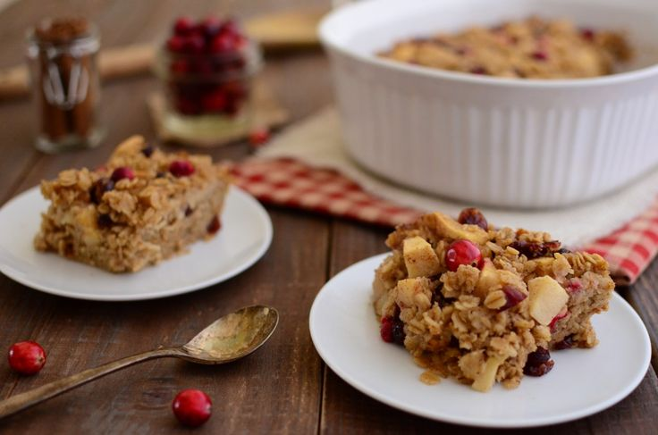 Cranberry Apple Baked Oatmeal | break the fast | Pinterest
