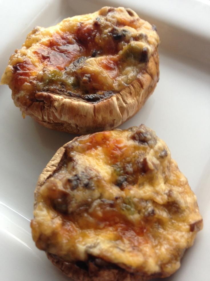 ... mushrooms and jalapeños spoon onto mushroom caps 3 bake 375 15min mmm