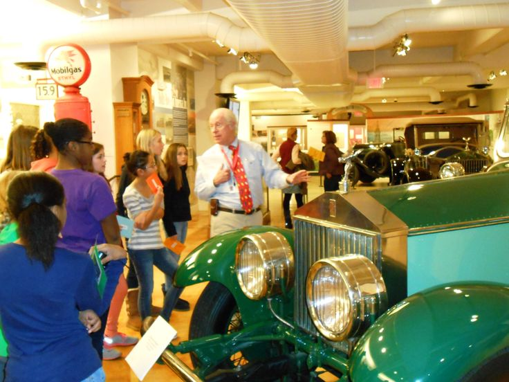 Students learn about Springfield's industrial past during a recent tour of the Wood Museum of Springfield History.