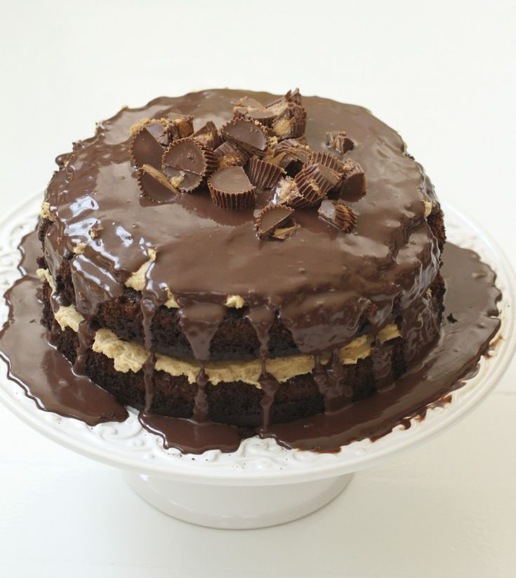 Chocolate Fudge Peanut Butter Crunch Cake Prep Time: 1 hour Cook Time ...