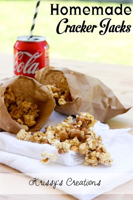 Homemade Cracker Jacks. This would be good any time of the year, but ...