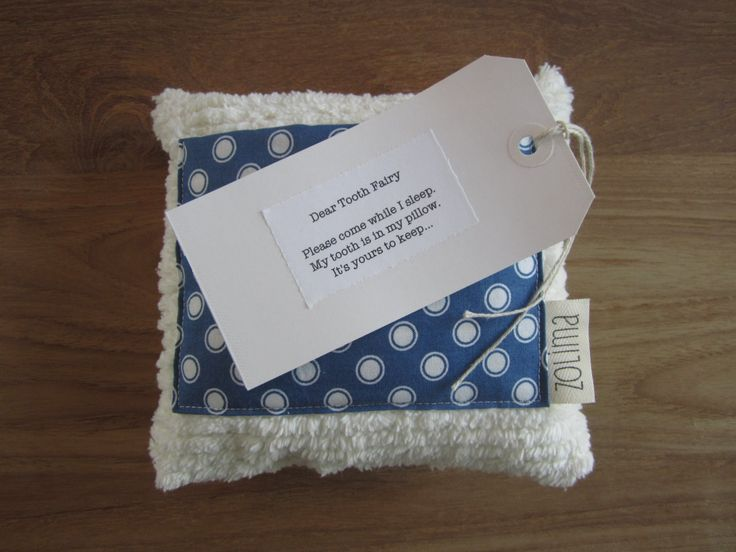 Tooth Fairy Pillow With Little Poem