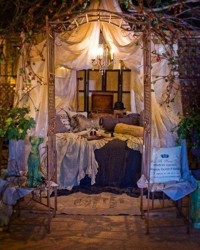 outdoor bedroom