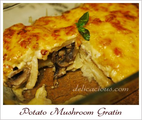 potato mushroom gratin | salads/side dishes/appetizers | Pinterest