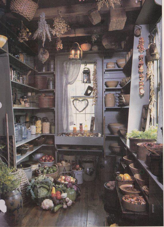 Primitive pantry Primitive Decor Pinterest
