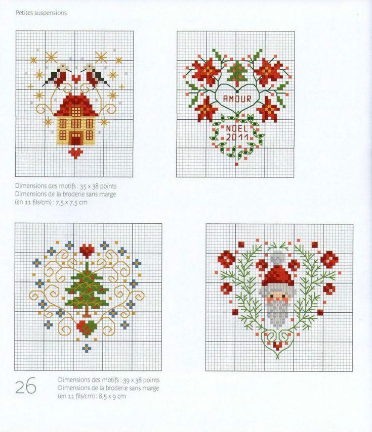 Новогодние схемы вышивок крестиком 58