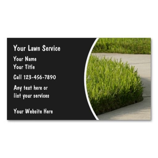 Lawn Business Cards Lawn Care Business Cards