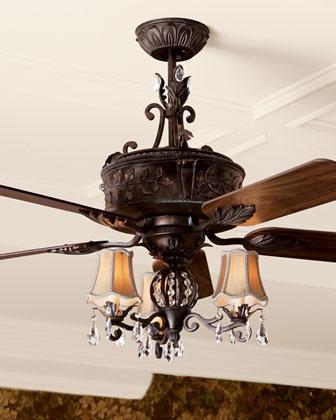 Antoinette ceiling fan and light kit pro