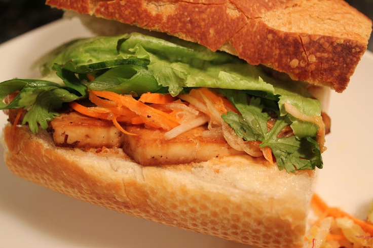 Lemongrass Tofu Banh Mi Sandwich | Recipe Photos | Pinterest