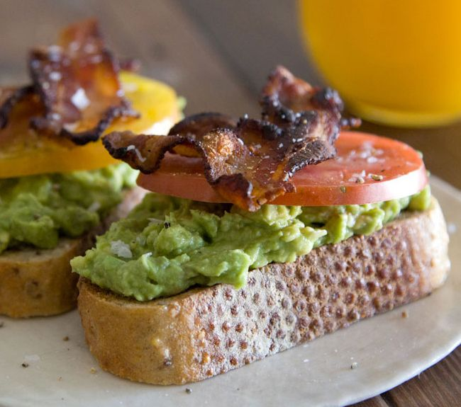 Avocado, Bacon and Tomato Toast | Food Fantasies | Pinterest