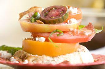 Stacked Heirloom Tomato Sandwich | What's for Dinner: Pork | Pinterest