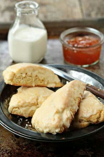 Orange glazed scones | It's Breakfast Time! | Pinterest