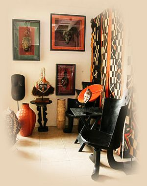 Ethnic Home Decor Featuring African Furniture And African Baskets