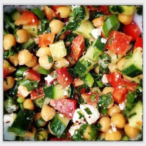 Mediterranean Chickpea Salad Recipe — Dishmaps