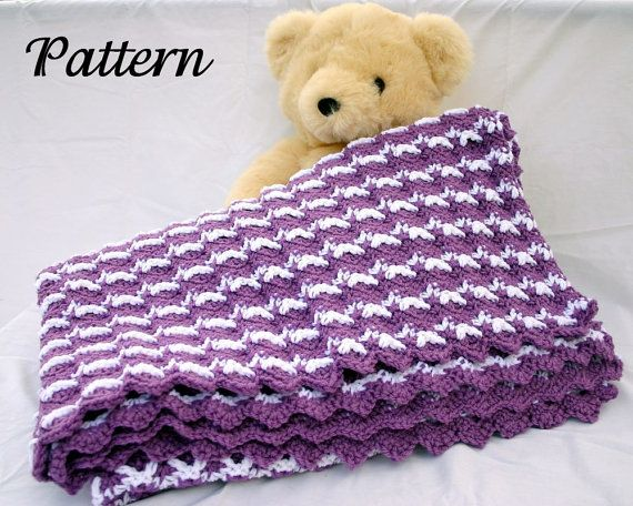 Ripple afghan PDF crochet pattern throw blanket zigzag ...