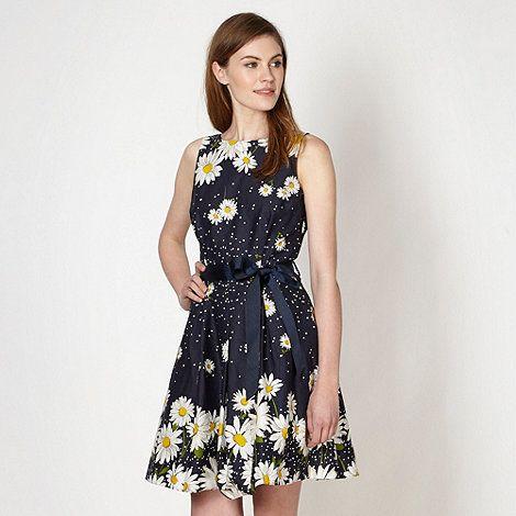 Holiday red herring navy daisy prom dress at debenhams com