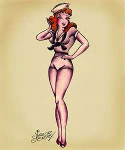 sailor jerry pin up  pin up tattoos