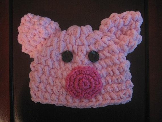 Crochet Pattern Pig Hat : Pig Hat Pattern Crochet Pinterest