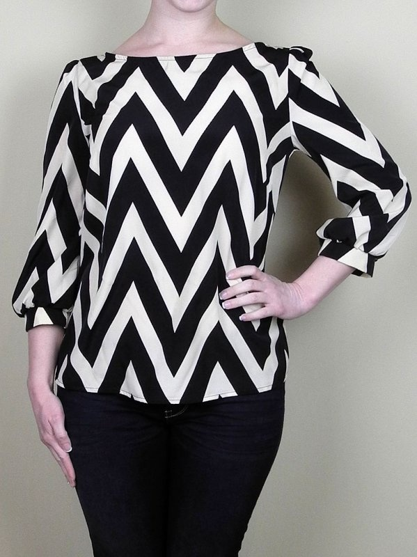 Cheerful Chevron Print Top in Beige - $36.00 : FashionCupcake, Designer Clothing, Accessories, and Gifts