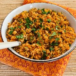 Baked Salsa Rice with Green Chiles, Lime, and Cilantro | Recipe