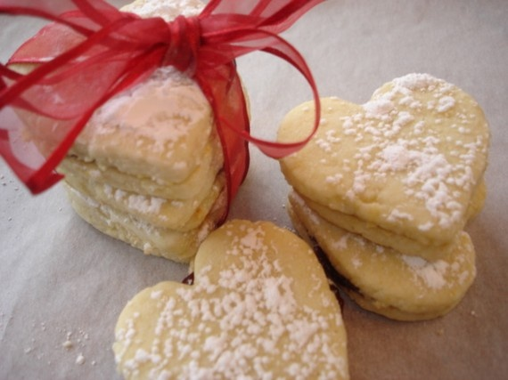 Raspberry Lemon Heart Sandwich Cookies by TheCurvyMermaid on Etsy, $26 ...