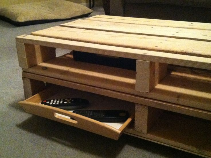 Coffee Table Made Out Of A Pallet Kristin Pinterest