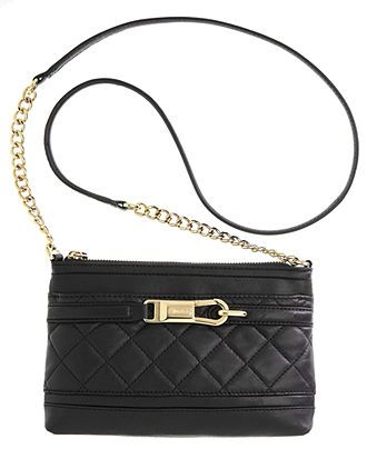 Calvin Klein Handbag, Luxe Lamb Crossbody - Handbags & Accessories ...