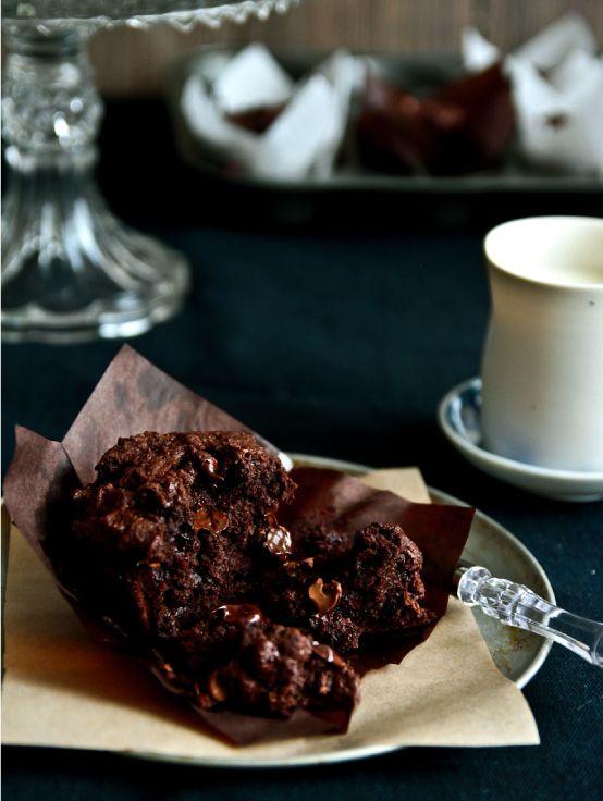 Triple Chocoletta Muffins