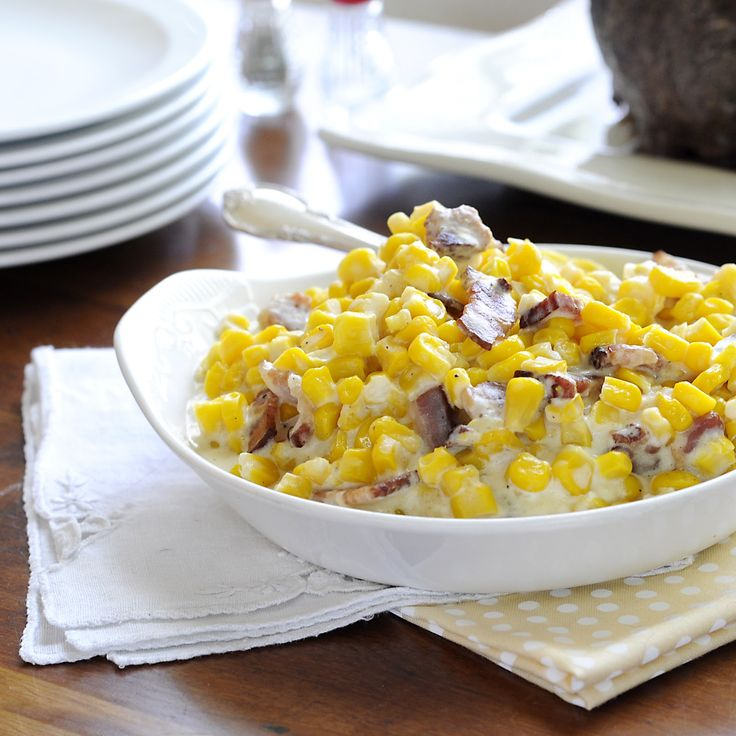 Parmesan And Bacon Creamed Corn Recipes — Dishmaps
