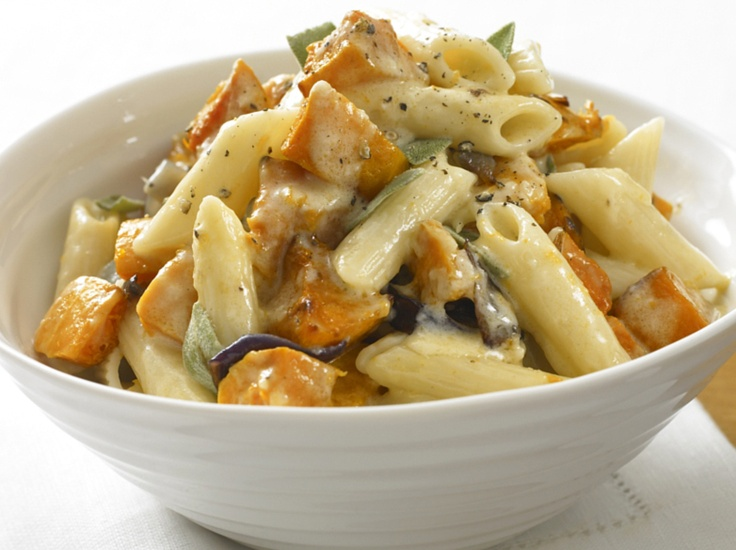 """Butternut Squash Penne"""". Note to self: find out what I can substitute ..."""