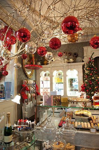 Ornaments hanging from ceiling branches pinterest for Decor hanging from ceiling