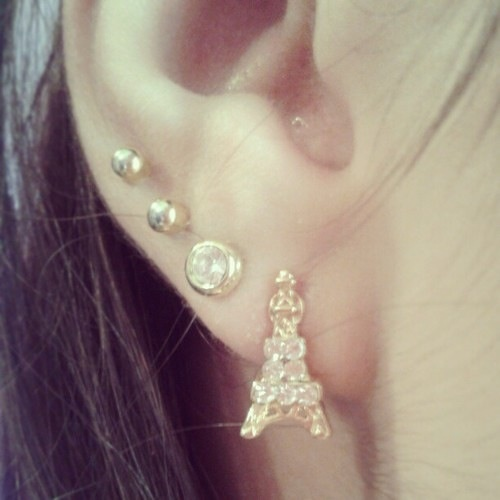 .Eiffel tower | Cute Ear Piercing Pictures/Videos | Pinterest