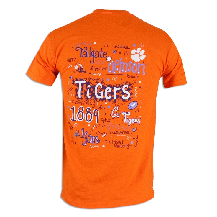 Clemson Tiger Words T-Shirt #clemson #tigers