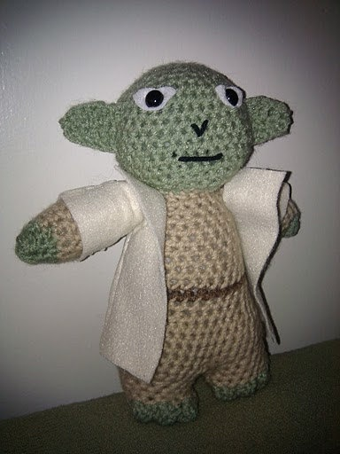 Crochet Patterns Yoda : Crochet Yoda Doll