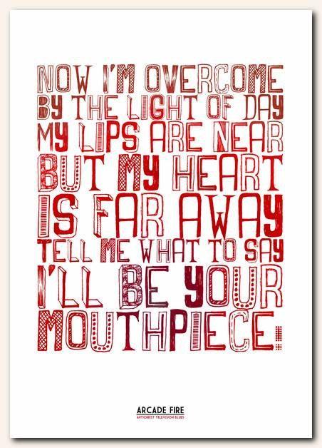 lyric arcade fire: