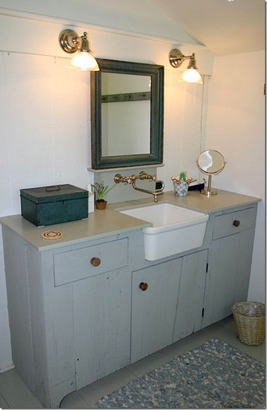 Apron Sink For Bathroom : faucet, small apron sink bathrooms Pinterest