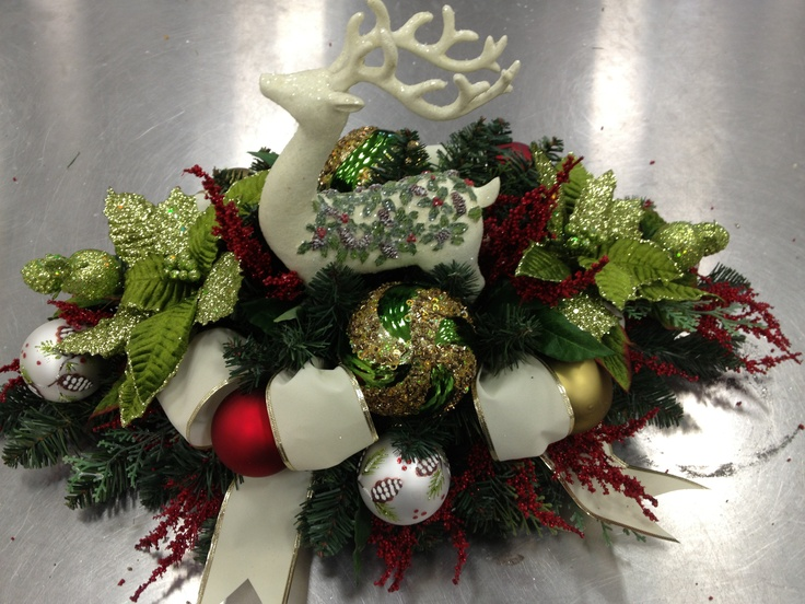 Quot home for the holidays centerpiece design by christian