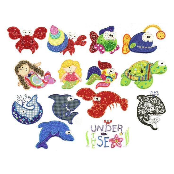 Ocean sea applique machine embroidery designs by