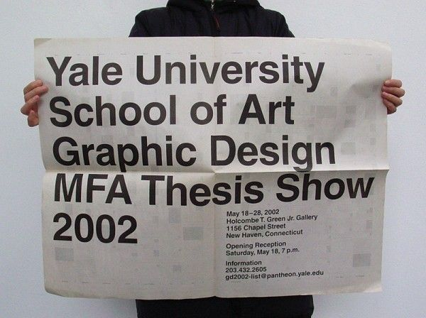 yale graphic design mfa thesis show 2002