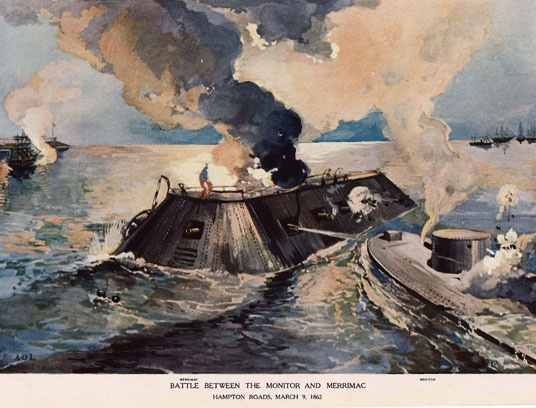 a history of how uss monitor and uss merrimack contributed to the civil war This day in geographic history december30 1862: monitor sinks sonar helped  archaeologists locate the uss monitor, the first  the monitor held up well in the  civil war's battle of hampton roads, fought just nine months earlier  of the  uss merrimac, and it is sometimes referred to by that name.