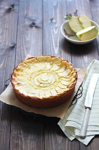 Apple Custard Tart | Pies & Pastry | Pinterest