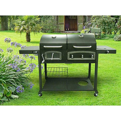 backyard grill 750 square inch dual gas charcoal grill