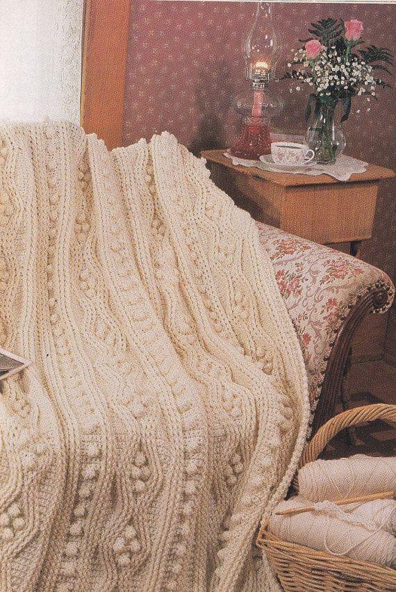 Crochet Pattern Aran Afghan : Aran Afghan Crochet Pattern - Pure Luxury Afghan