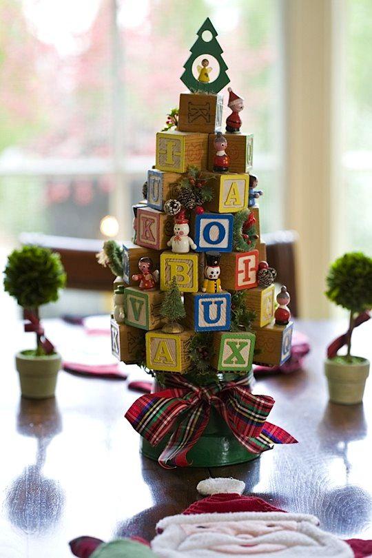 Baby block christmas tree holidays pinterest