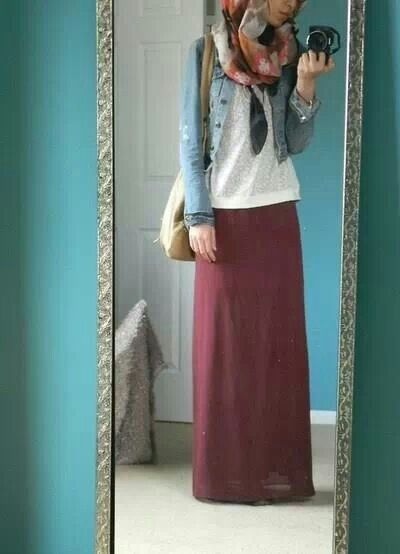 My Style Hijab Fashion Maxi Skirt Hijab Essence Pinterest