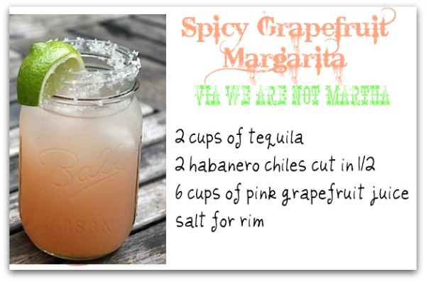Spicy Grapefruit Margarita | Party Food & Drinks | Pinterest